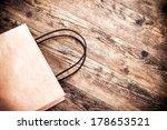 paper bag rustic wooden... | Shutterstock . vector #178653521