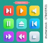 icons for media player. vector...