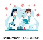 vaccine research  scientists... | Shutterstock .eps vector #1786568534