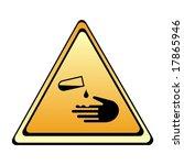 warning sign   acid   Shutterstock . vector #17865946