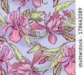 floral seamless pattern with...   Shutterstock .eps vector #178662089
