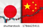 japan and china flag  trade... | Shutterstock . vector #1786625411