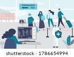 medical workers checks body... | Shutterstock .eps vector #1786654994
