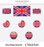 flags of great britain | Shutterstock .eps vector #17866564