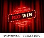 big win neon banner with red... | Shutterstock .eps vector #1786661597