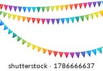 paper bunting party flags... | Shutterstock .eps vector #1786666637