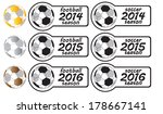 from 2014 to 2016 football... | Shutterstock .eps vector #178667141