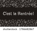 french back to school text... | Shutterstock .eps vector #1786682867