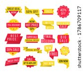 set of promotional badges and... | Shutterstock .eps vector #1786709117