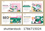 set of four web page templates...