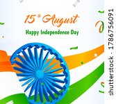 15th august  happy indian... | Shutterstock .eps vector #1786756091