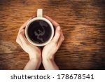 Woman Hands Holding Mug Of Hot...