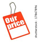 price tag with copy space isolated on white, photo does not infringe any copyright - stock photo