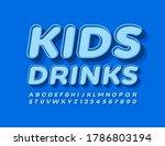 Vector Trendy Logo Kids Drink....