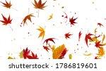 Autumn Flying Leaves Leaf 3d...