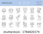 vector storytelling icons.... | Shutterstock .eps vector #1786820174