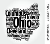 list of cities in ohio usa... | Shutterstock .eps vector #1786847267