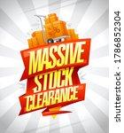 massive stock clearance vector...   Shutterstock .eps vector #1786852304