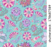 seamless vector pattern with... | Shutterstock .eps vector #178687589