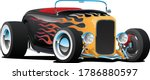 Custom Hot Rod Roadster Car...