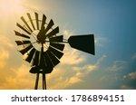 Vintage Windmill Silhouette...