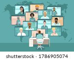 global doctors web conference ... | Shutterstock .eps vector #1786905074