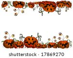 funny monster pumpkin for... | Shutterstock . vector #17869270