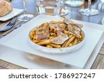 pasta with autumn black truffles | Shutterstock . vector #1786927247