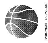 basket ball icon in halftone...   Shutterstock .eps vector #1786928531