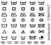 icon set of laundry symbols | Shutterstock .eps vector #178692917