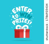 enter to win prizes gift box.... | Shutterstock .eps vector #1786935434