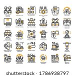 set of industrial process thin... | Shutterstock .eps vector #1786938797