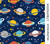 space seamless pattern with... | Shutterstock .eps vector #1786950554