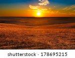 sunset overlooking the flint... | Shutterstock . vector #178695215