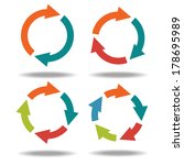 set icons circle arrows... | Shutterstock .eps vector #178695989