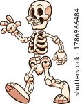 cartoon skeleton walking and... | Shutterstock .eps vector #1786966484