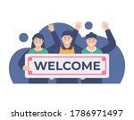 the concept of welcoming new...