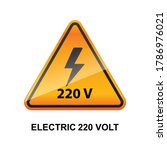 electric 220 volt caution sign... | Shutterstock .eps vector #1786976021