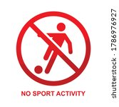 no sport activity sign isolated ... | Shutterstock .eps vector #1786976927