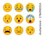 expressive set of emoticons ... | Shutterstock .eps vector #1786983314