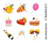 festive set of emojis with...   Shutterstock .eps vector #1786983317