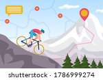 mountain bike competition ...   Shutterstock .eps vector #1786999274