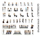business peoples in different... | Shutterstock .eps vector #178700195