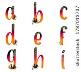 lowercase abc letters.... | Shutterstock .eps vector #1787013737