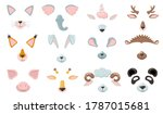 various animal phone masks flat ... | Shutterstock .eps vector #1787015681
