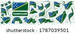 vector set of the national flag ... | Shutterstock .eps vector #1787039501