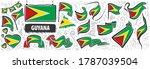 vector set of the national flag ... | Shutterstock .eps vector #1787039504