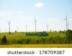 eco power  wind turbines | Shutterstock . vector #178709387