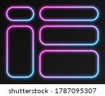 neon gradient frames set ...   Shutterstock .eps vector #1787095307