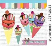 ice cream shop collection 2... | Shutterstock .eps vector #178710155